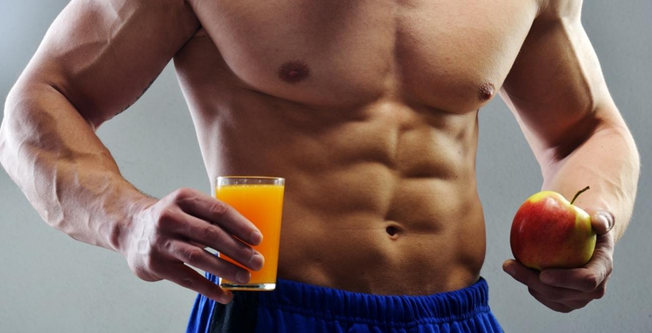 Die Ration einer Ernährung für den Bauch und die Seiten für die Männer